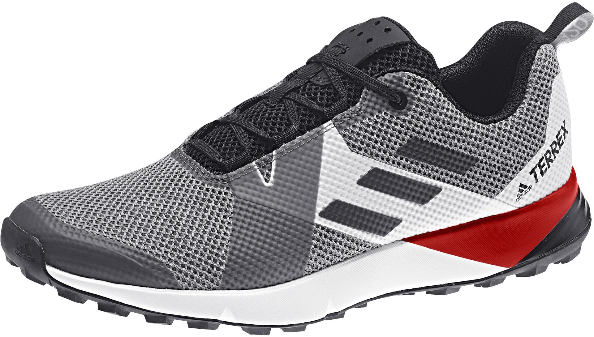 adidas TERREX Two Sko Herrer, grey threecore blackactive red